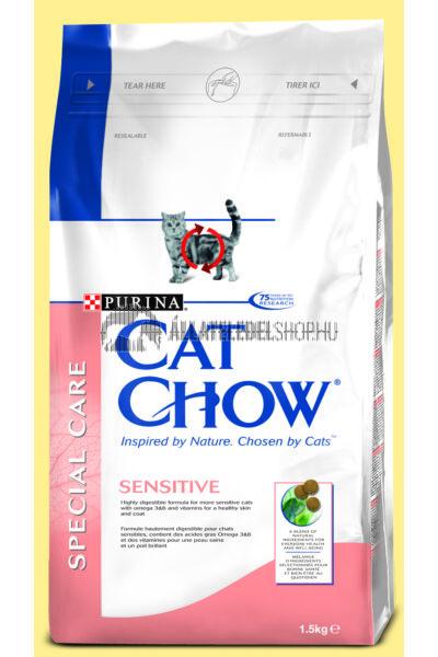 Cat Chow macskaeledel - Adult Sensitive macskatáp 1,5kg
