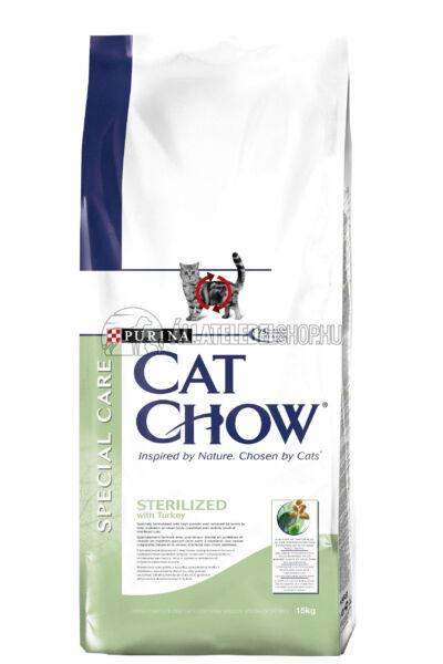 Cat Chow macskaeledel - Adult Sterilized macskatáp 15kg