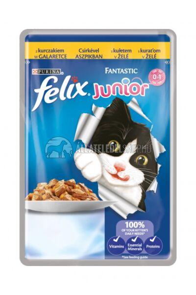 Felix macskaeledel - Junior Csirke Aszpikban alutasakos macskáknak 100g