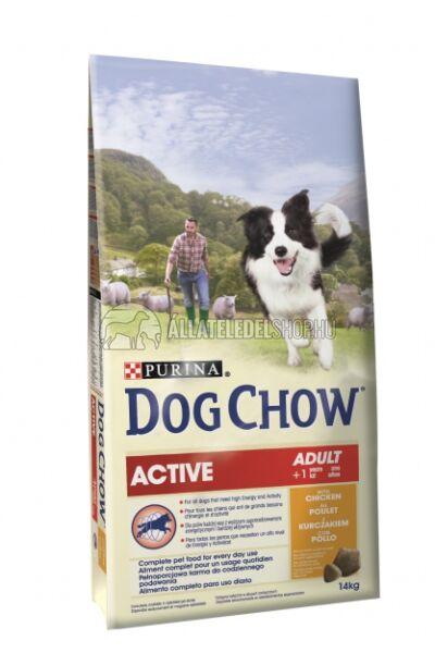 Dog Chow - Active Csirke húsos kutyatáp 14kg