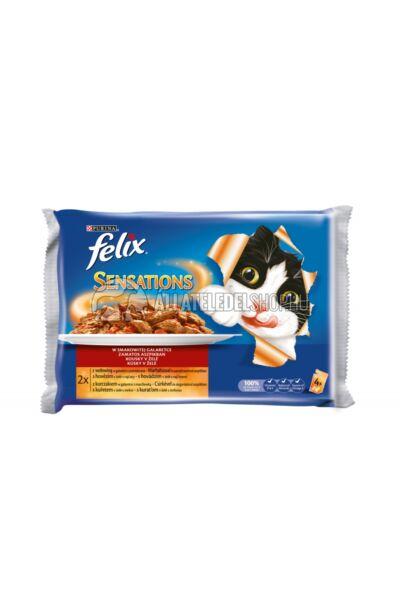 Felix macskaeledel - Sensation Multipack Húsos válogatás aszpikban alutasakos macskáknak 4X100g