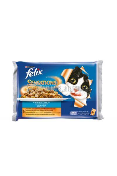 Felix - Sensation Multipack Halas válogatás aszpikban alutasakos macskáknak 4X100g