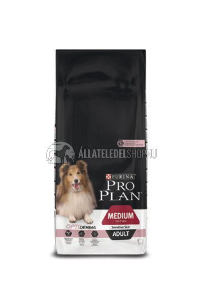 Pro Plan - Medium Adult Sensitive Skin Optiderma kutyatáp 14kg
