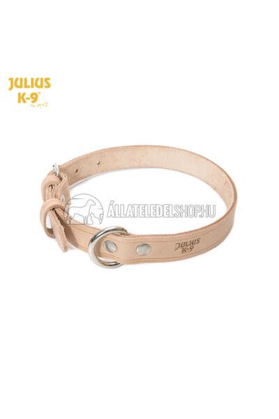 Julius K-9  Marhabőr, szegecselt nyakörv, 1,6cm/33-43cm. Natúr