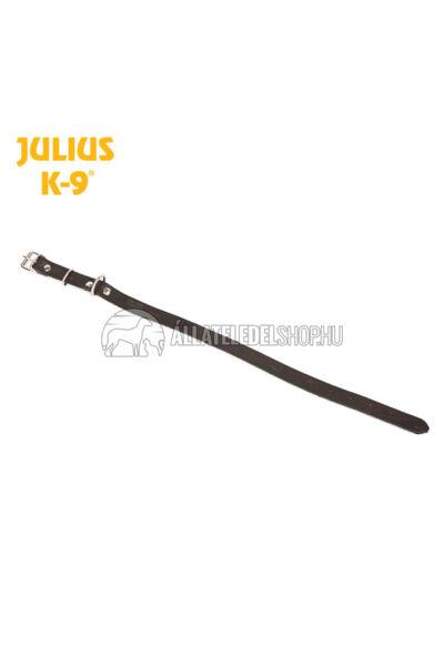 Julius K-9  Marhabőr, szegecselt nyakörv, 1,6cm/33-43cm. Fekete