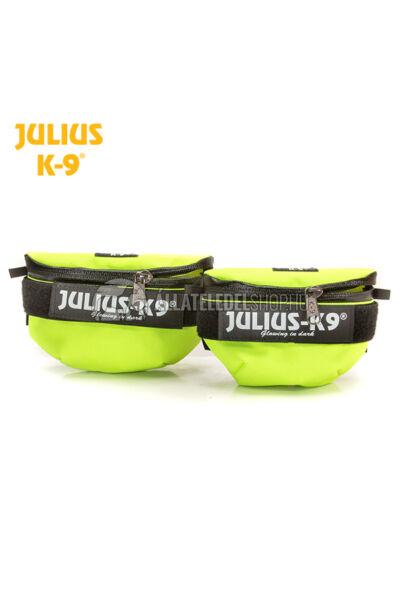 Julius K-9  IDC Univerzális oldaltáska – 1 pár - mini, 0-4 hámokra. Neon