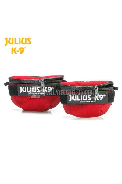 Julius K-9  IDC Univerzális oldaltáska – 1 pár - baby1-2, mini-mini hámokra.  Piros