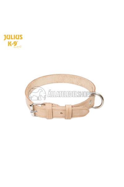 Julius K-9  Marhabőr, szegecselt nyakörv, 2cm/43-53cm. Natúr