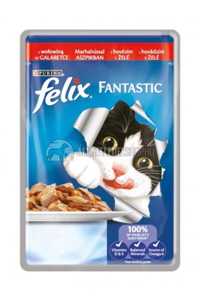 Felix macskaeledel - Marha alutasakos macskáknak 100g