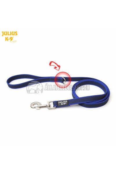 """Julius K-9  Color & gray - Gumis póráz - Blue-Gray - """"D"""" karikával – 2 m / 20 mm"""