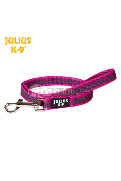 Julius K-9  Color & gray - Gumis póráz - Pink-Gray – 1.2 m / 20 mm