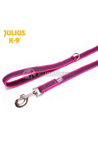 "Julius K-9  Color & gray - Gumis póráz - Pink-Gray - ""D"" karikával – 1.8 m / 20 mm"