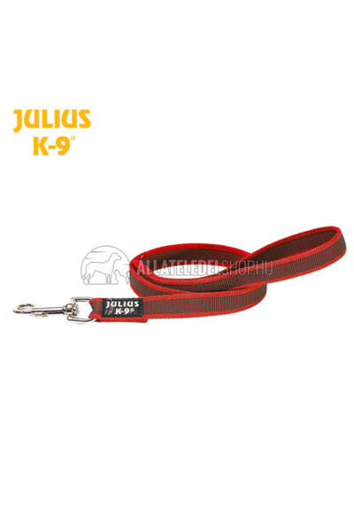 Julius K-9  Color & gray - Gumis póráz - Red-Gray – 1.2 m / 20 mm