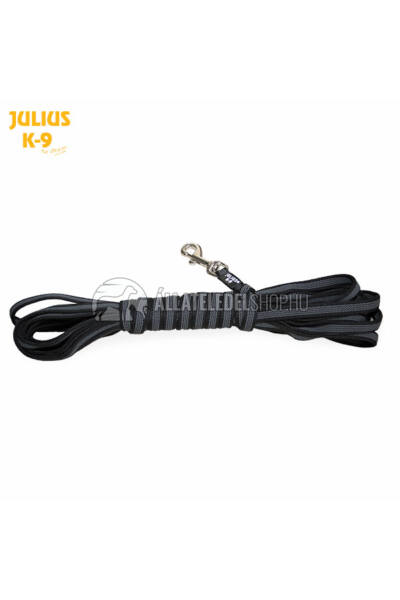 Julius K-9  Color & gray - Gumis póráz - Black-Gray – 5 m / 20 mm