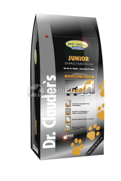 Dr. Clauder'S - Best Choice Junior  Small & Medium Szárnyas húsos kutyatáp 12,5Kg