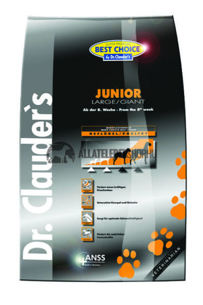 Dr. Clauder'S - Best Choice Junior Large & Giant Szárnyas húsos kutyatáp 4Kg
