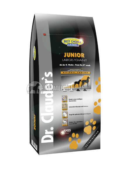 Dr. Clauder'S - Best Choice Junior Large & Giant Szárnyas húsos kutyatáp 12,5Kg