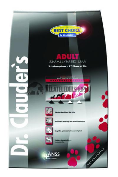 Dr. Clauder'S - Best Choice Adult Small & Medium Szárnyas húsos kutyatáp 4Kg