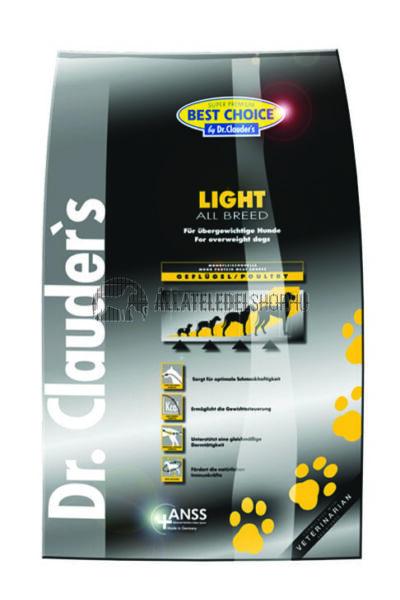 Dr. Clauder'S - Best Choice All Breed Light Maintenance Szárnyas húsos kutyatáp 4Kg