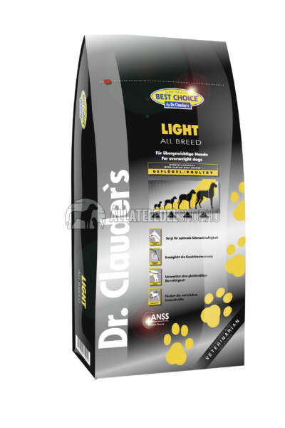 Dr. Clauder'S - Best Choice All Breed Light Maintenance Szárnyas húsos kutyatáp 12,5Kg