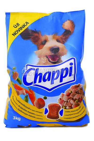 Chappi -  Baromfi - Zöldség kutyatáp 3kg