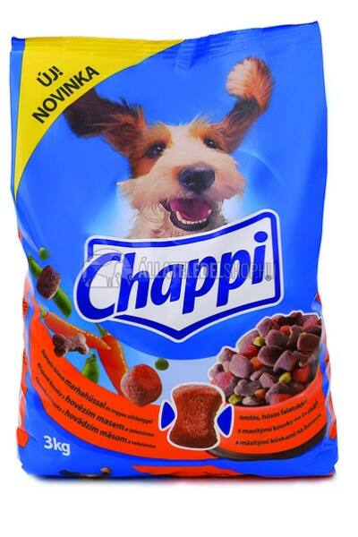 Chappi -  Marha - Zöldség kutyatáp 3kg