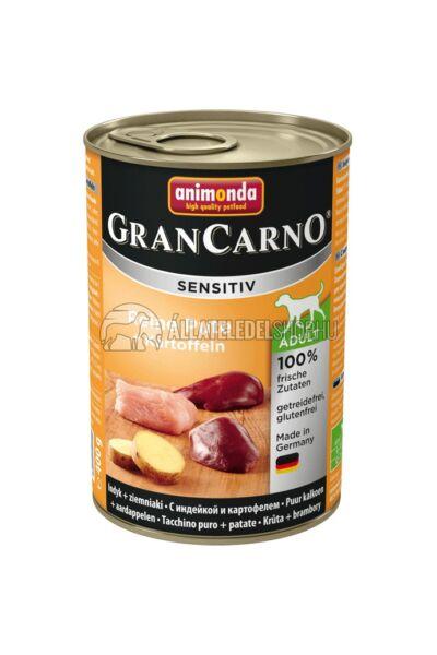 Animonda - Grancarno Sensitiv Pulyka & Burgonya kutyakonzerv 400g