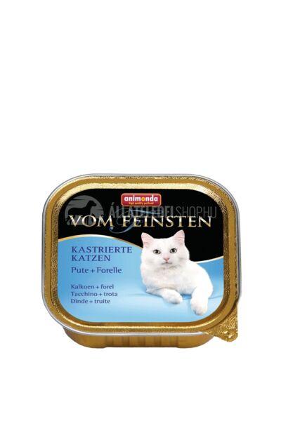 Animonda macskaeledel - Vom Feinsten  Pulyka & Pisztráng alutasakos ivartalanított macskáknak 100g