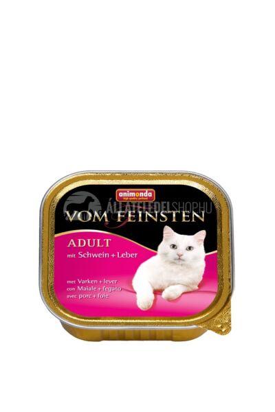 Animonda macskaeledel - Vom Feinsten Adult Sertés & Máj alutasakos macskáknak 100g