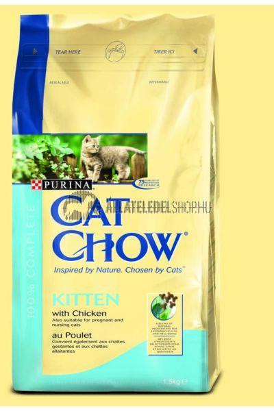 Cat Chow macskaeledel - Kitten Chicken macskatáp 1,5kg