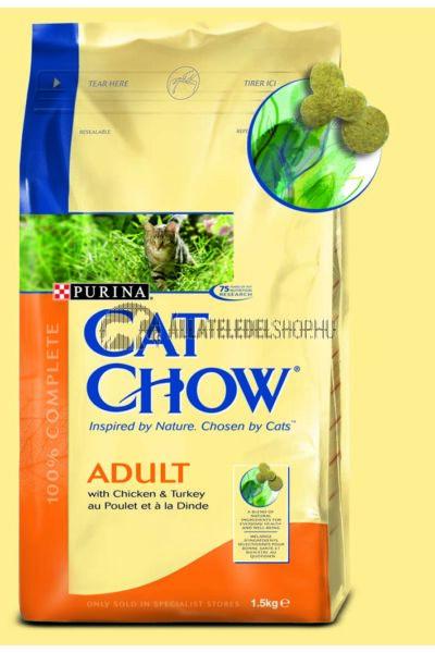 Cat Chow macskaeledel - Adult Pulyka & Csirke macskatáp 1,5kg