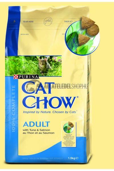 Cat Chow macskaeledel - Adult Tonhal & Lazac macskatáp 1,5kg