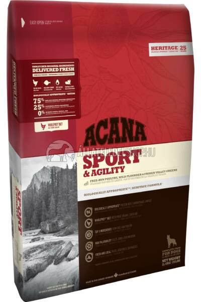 Acana - Sport & Agility Csirke - Hal - Zöldség gabonamentes kutyatáp 17kg