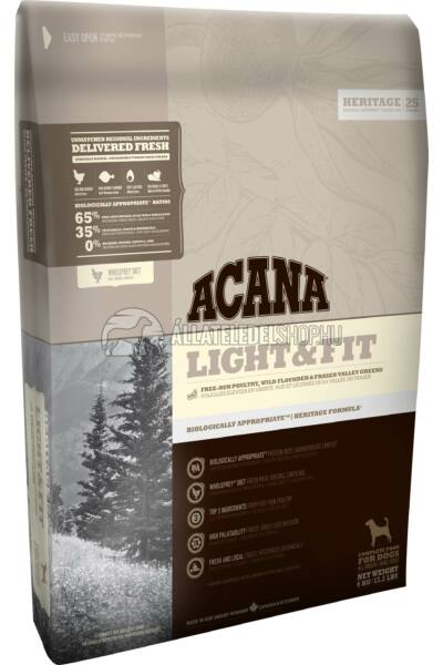 Acana - Light & Fit Csirke - Hal - Zöldség gabonamentes kutyatáp 11,4kg