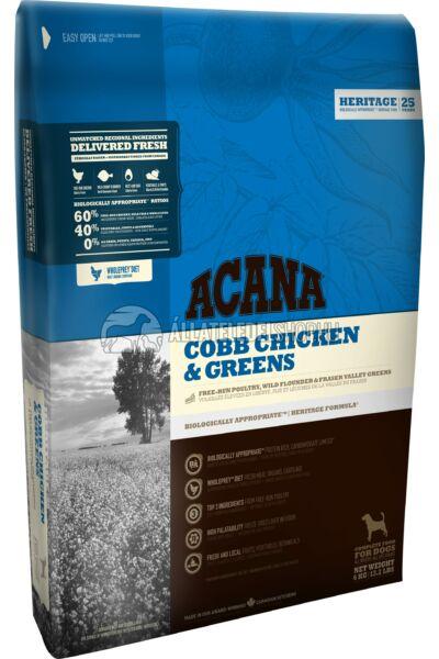 Acana - Cobb Csirke & Zöldség gabonamentes kutyatáp 11,4kg