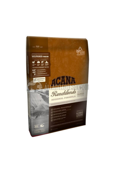 Acana - Ranchlands Marha -Bölény -Bárány gabonamentes és hypoallergén kutyatáp 13kg