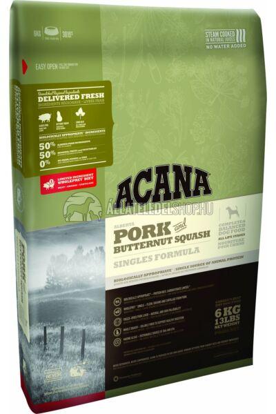 Acana - Singles Sertés & Pézsmatök gabonamentes és hypoallergén kutyatáp 11,4kg