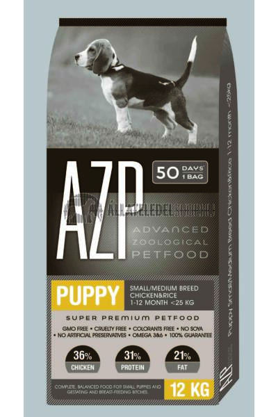 AZP - Puppy Small/Medium Csirke & Rizs kutyatáp 12Kg
