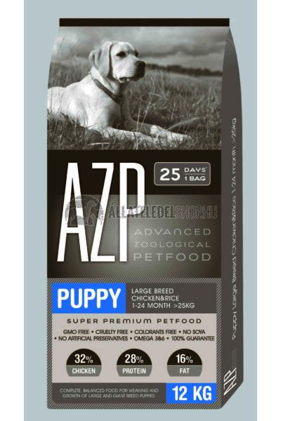 AZP - Puppy Large Breed Csirke & Rizs kutyatáp 12Kg