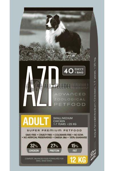 AZP - Adult Small/Medium Csirke húsos. kutyatáp 12Kg