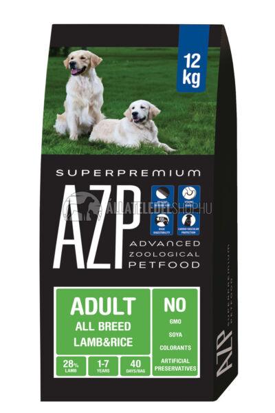 AZP - Adult All Breed Bárány & Rizs. hypoallergén kutyatáp 12Kg