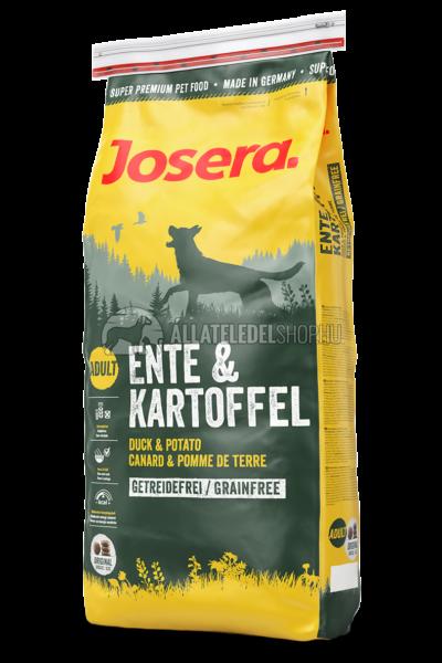 Josera - Adult Duck & Potato - Burgonya és Kacsa gabonamentes kutyatáp 15kg