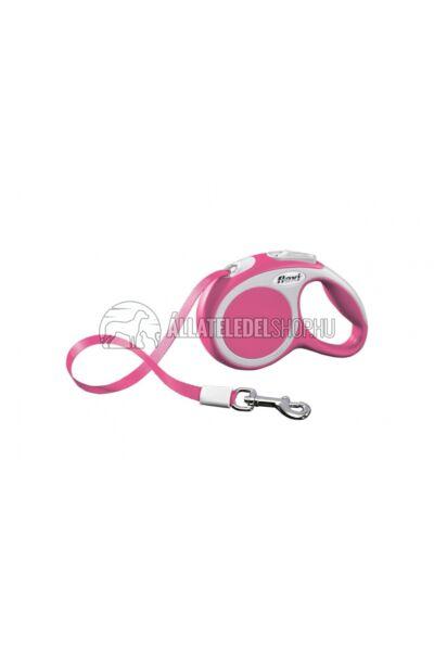 Flexi Vario Xs 3m Szalagos Pink 12kg-Ig