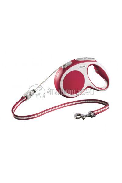 Flexi Vario S 5m Zsinóros Piros 12kg-Ig