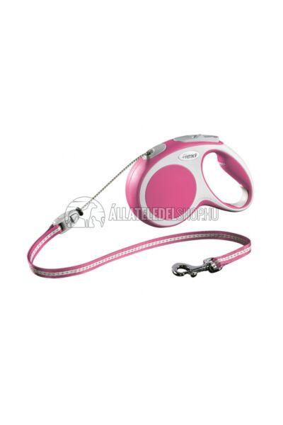 Flexi Vario S 5m Zsinóros Pink 12kg-Ig