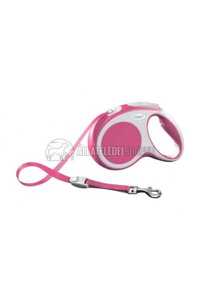 Flexi Vario S 5m Szalagos Pink 15kg-Ig