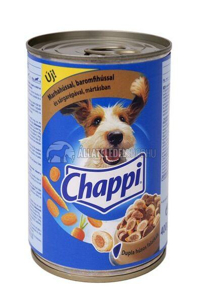 Chappi - Marha - Baromfi kutyakonzerv 400g