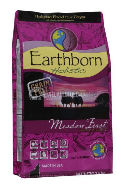 Earthborn Holistic - Meadow Feast Bárány húsos gabonamentes és hypoallergén kutyatáp 2,5kg