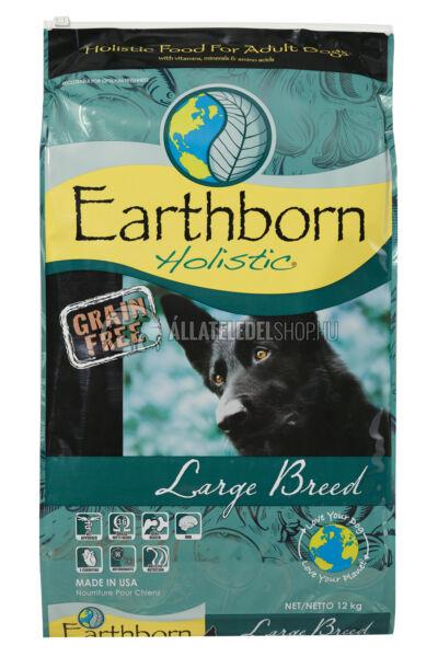 Earthborn Holistic - Large Breed Csirke húsos gabonamentes kutyatáp 12kg