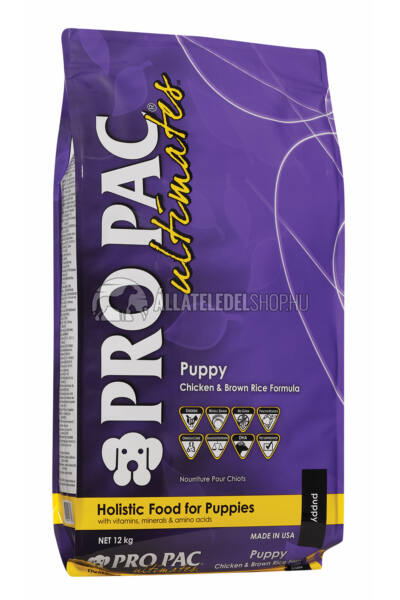 Pro Pac Ultimates - Csirke & Barna Rizs kutyatáp Puppy 12kg